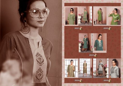 FAIRY WORLD BY ART RIDDHS 26001 TO 26005 SERIES BEAUTIFUL STYLISH KURTI 2