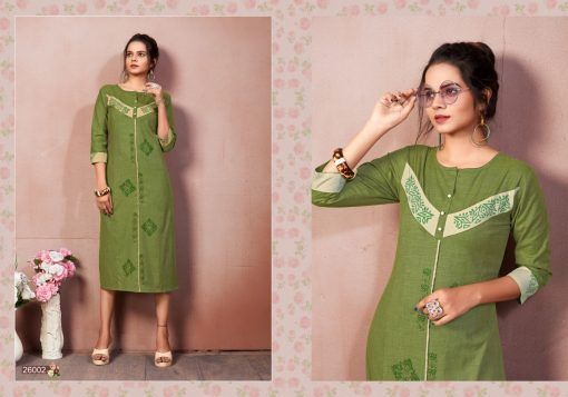 FAIRY WORLD BY ART RIDDHS 26001 TO 26005 SERIES BEAUTIFUL STYLISH KURTI 3