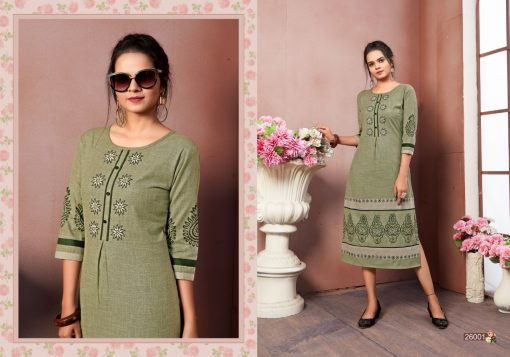 FAIRY WORLD BY ART RIDDHS 26001 TO 26005 SERIES BEAUTIFUL STYLISH KURTI 6