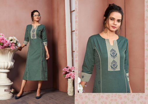 FAIRY WORLD BY ART RIDDHS 26001 TO 26005 SERIES BEAUTIFUL STYLISH KURTI 7