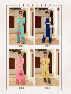 Anokhi by ladies flavour rayon stylish long top with pant collection 13