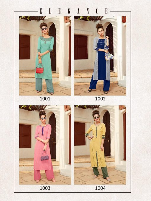 Anokhi by ladies flavour rayon stylish long top with pant collection 2