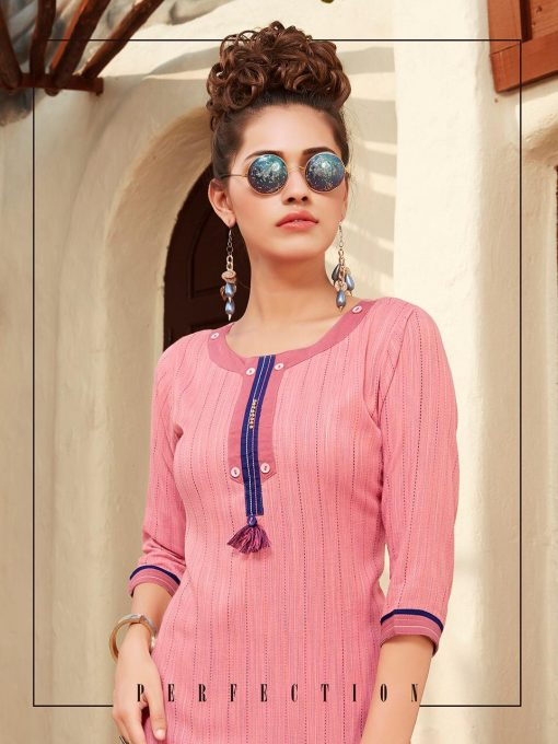 Anokhi by ladies flavour rayon stylish long top with pant collection 4
