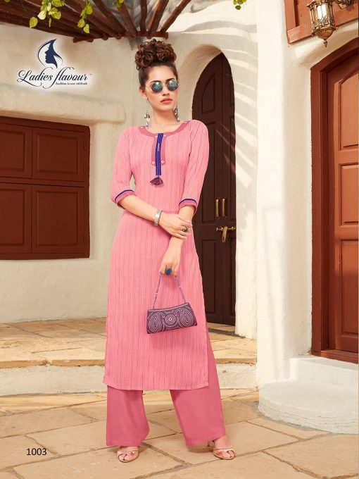 Anokhi by ladies flavour rayon stylish long top with pant collection 6