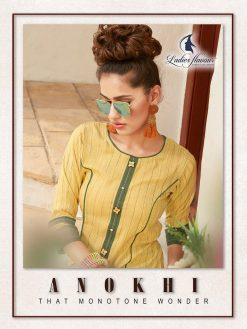 Anokhi by ladies flavour rayon stylish long top with pant collection 19