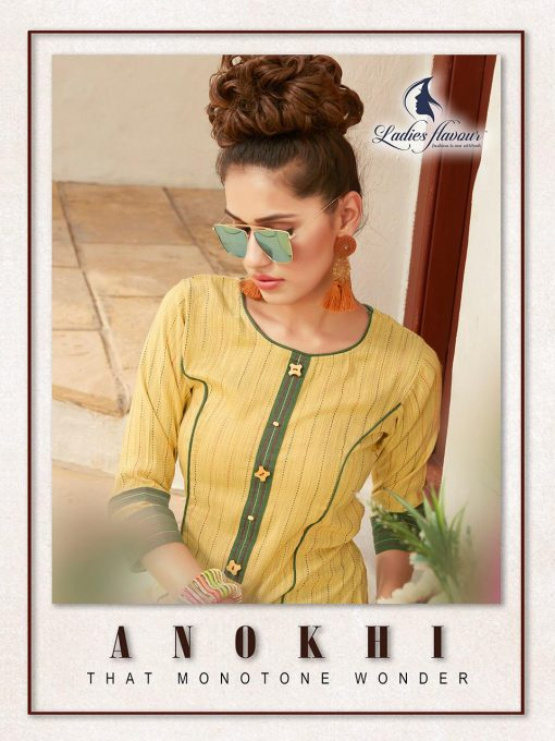 Anokhi by ladies flavour rayon stylish long top with pant collection 8