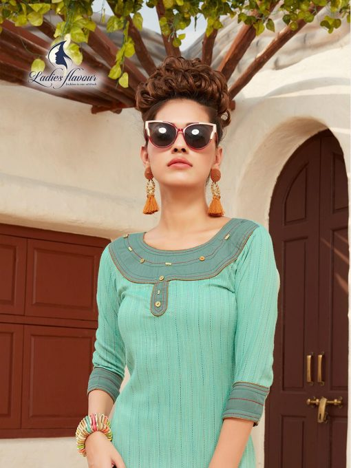 Anokhi by ladies flavour rayon stylish long top with pant collection 10