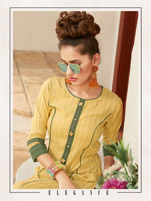 Anokhi by ladies flavour rayon stylish long top with pant collection 1