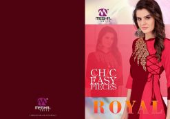 meghali kurti present royal rayon long festive collection of kurtis wholesaler 14