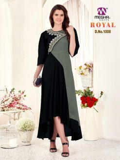 meghali kurti present royal rayon long festive collection of kurtis wholesaler 18