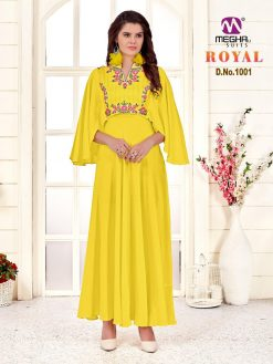 meghali kurti present royal rayon long festive collection of kurtis wholesaler 22
