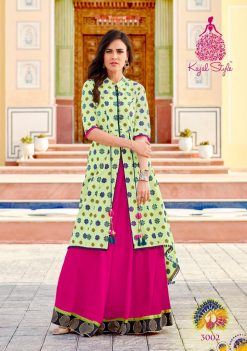 kajal style fashion lakme vol 3 rayon gown style long kurti supplier 12