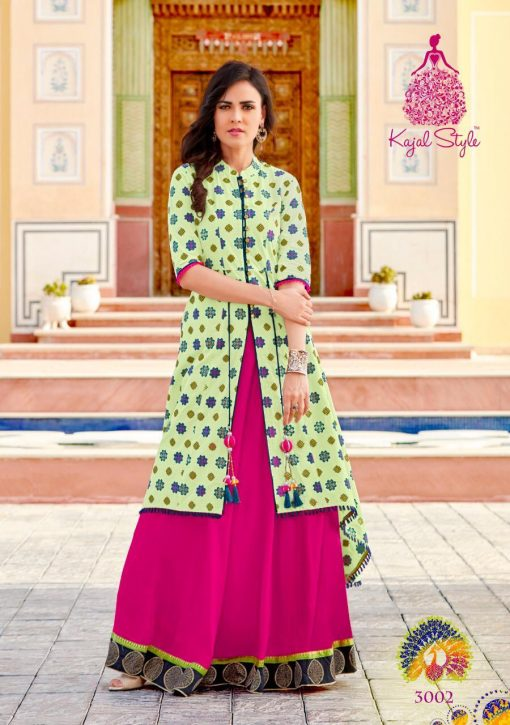 kajal style fashion lakme vol 3 rayon gown style long kurti supplier 4