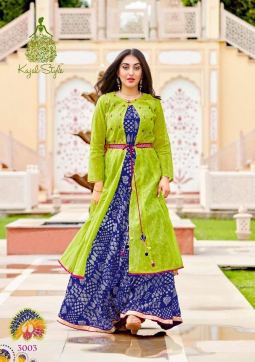 kajal style fashion lakme vol 3 rayon gown style long kurti supplier 6