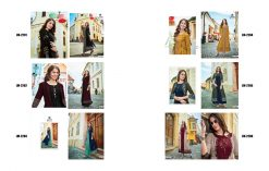 lymi urban designer festive wear rayon kurti collection with ruby silk shrug full catalog 15