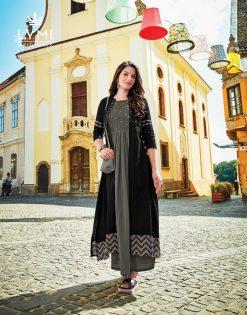 lymi urban designer festive wear rayon kurti collection with ruby silk shrug full catalog 17