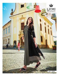 lymi urban designer festive wear rayon kurti collection with ruby silk shrug full catalog 18