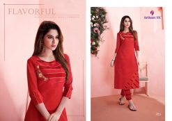 arihant present mehar pure silk stylish kurti with plazzo collection 21