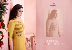 arihant present mehar pure silk stylish kurti with plazzo collection 28