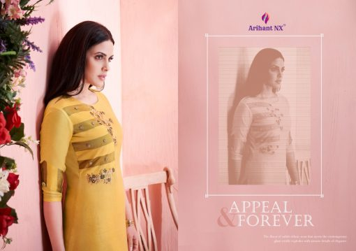 arihant present mehar pure silk stylish kurti with plazzo collection 12