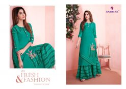 arihant present mehar pure silk stylish kurti with plazzo collection 29