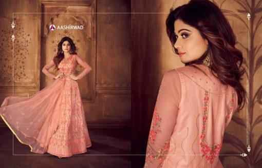 aashirwad karigari vol 2 long gown style party wear salwar suit online trader 5