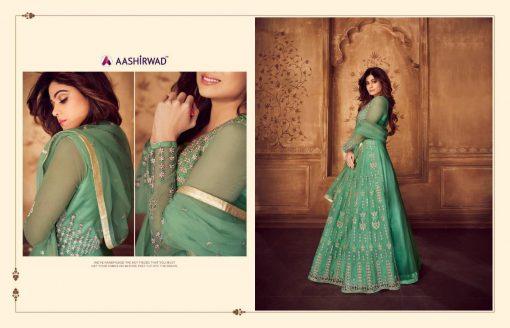 aashirwad karigari vol 2 long gown style party wear salwar suit online trader 7
