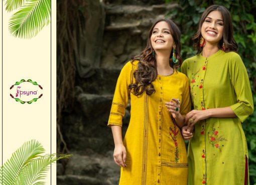 Psyna launch preet vol 4 cotton rayon kurti with plazzo online collection 3