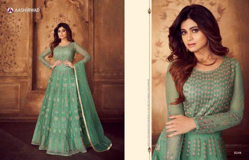 aashirwad karigari vol 2 long gown style party wear salwar suit online trader 11