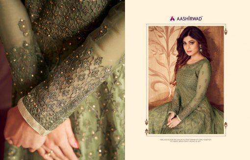 aashirwad karigari vol 2 long gown style party wear salwar suit online trader 12