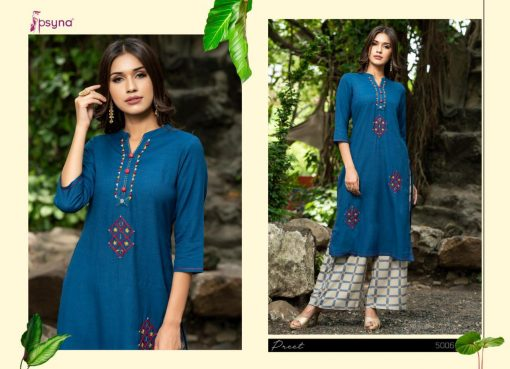 Psyna launch preet vol 4 cotton rayon kurti with plazzo online collection 5