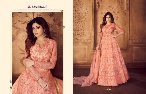 aashirwad karigari vol 2 long gown style party wear salwar suit online trader 13