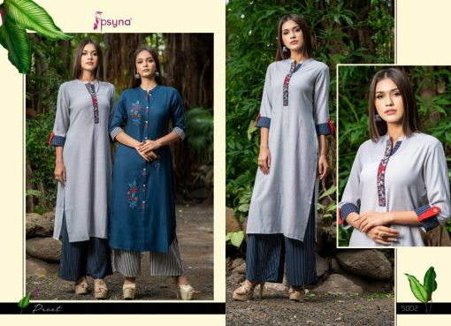 Psyna launch preet vol 4 cotton rayon kurti with plazzo online collection 6