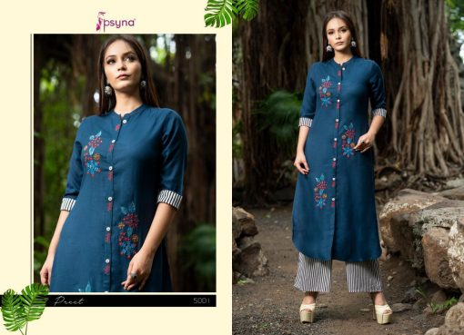 Psyna launch preet vol 4 cotton rayon kurti with plazzo online collection 7