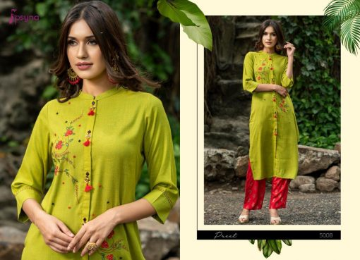 Psyna launch preet vol 4 cotton rayon kurti with plazzo online collection 8