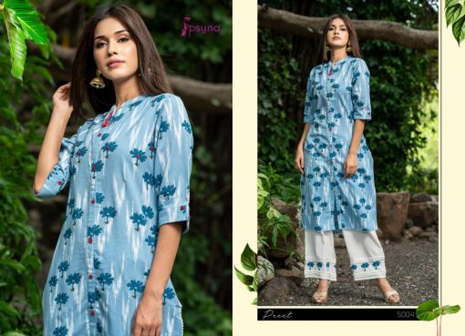 Psyna launch preet vol 4 cotton rayon kurti with plazzo online collection 11