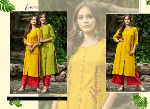 Psyna launch preet vol 4 cotton rayon kurti with plazzo online collection 12
