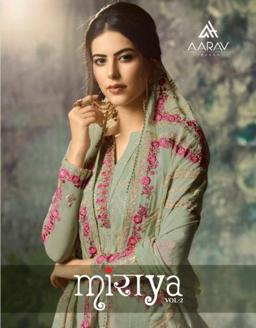 Aarav Trendz Miraya Vol-2 Catalog : Beautiful Embroidery Designer Salwar Kameez 1