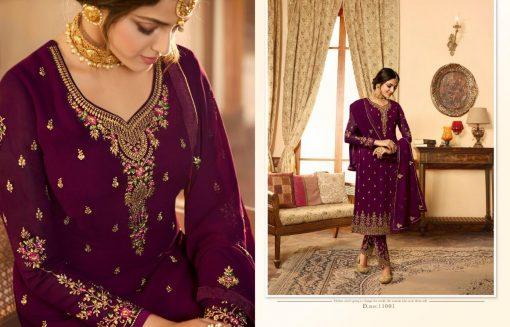 Zisa Vol 60 By Meera Trendz Embroidered Work Indian Dresses Catalog 4