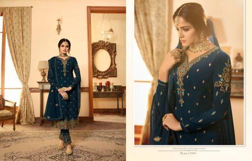 Zisa Vol 60 By Meera Trendz Embroidered Work Indian Dresses Catalog 8