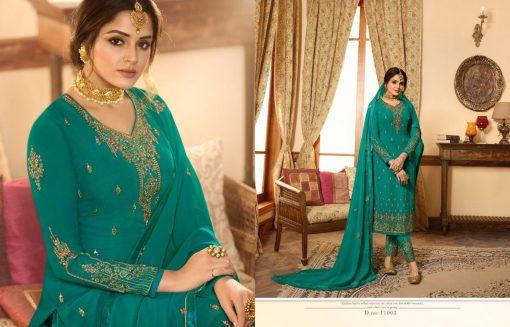 Zisa Vol 60 By Meera Trendz Embroidered Work Indian Dresses Catalog 9