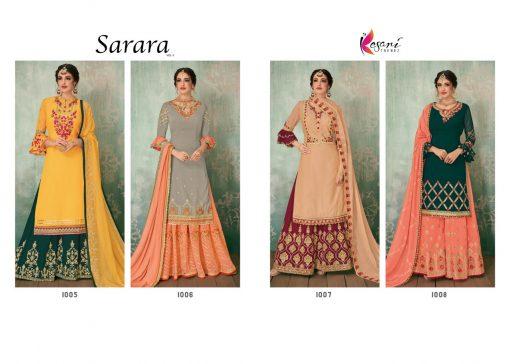 Kesari Sharara 2 Faux Georgette Embroidered Salwar Kameez Collection 4
