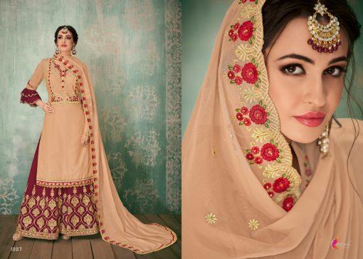 Kesari Sharara 2 Faux Georgette Embroidered Salwar Kameez Collection 7