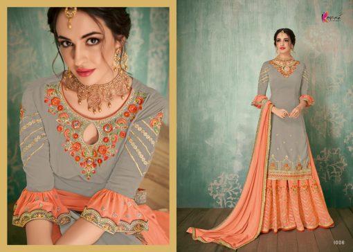 Kesari Sharara 2 Faux Georgette Embroidered Salwar Kameez Collection 9