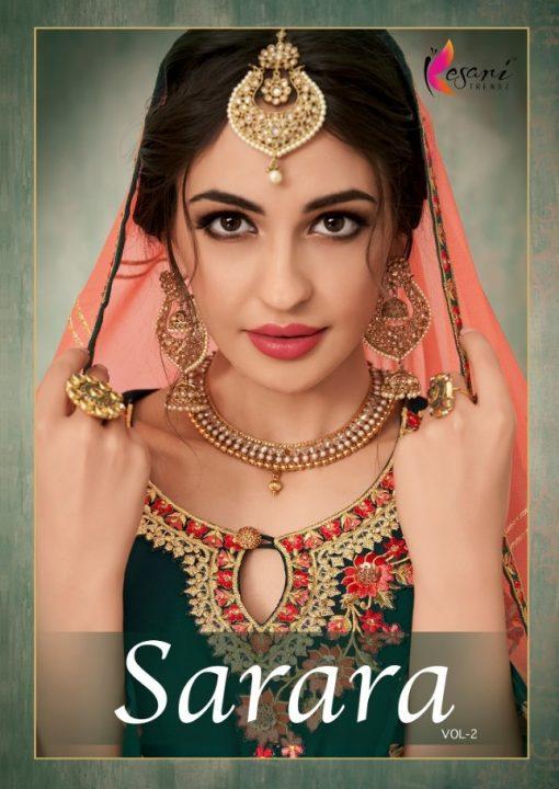 Kesari Sharara 2 Faux Georgette Embroidered Salwar Kameez Collection 1