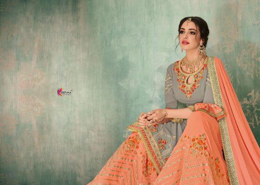 Kesari Sharara 2 Faux Georgette Embroidered Salwar Kameez Collection 11