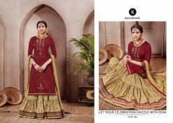 kalarang launching blossom vol 7 jam silk cotton lehanga style salwar kameez 13