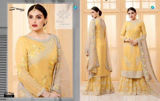 YC Sarara Vol 10 Georgette With Embroidery Sharara Suit wholesale rate 2