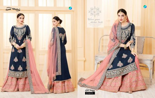 YC Sarara Vol 10 Georgette With Embroidery Sharara Suit wholesale rate 3
