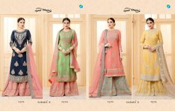 YC Sarara Vol 10 Georgette With Embroidery Sharara Suit wholesale rate 12